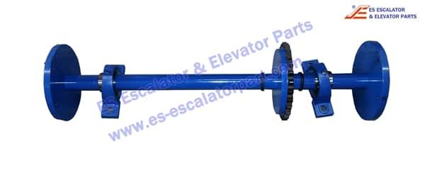otis escalator GBA26380B8 Handrail drive shaft 506NCE
