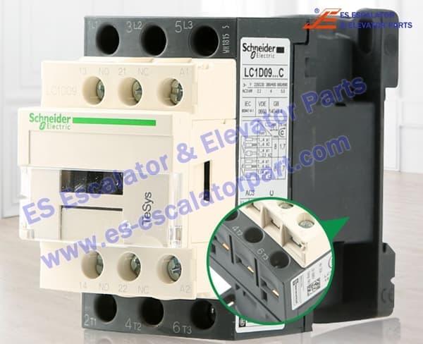 Schneider elevator contactor LC1D09B7C