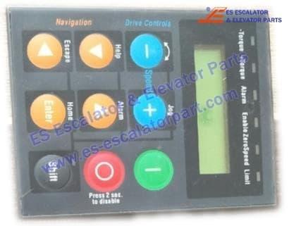 SIEI inverter AVY series AVGL operation panel