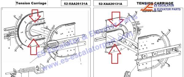 Xizi Otis escalator 52-XAA26131A tension carriage (Left and Right)