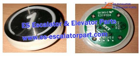 SJEC SK94V-0 E319204 A4N18639 Button