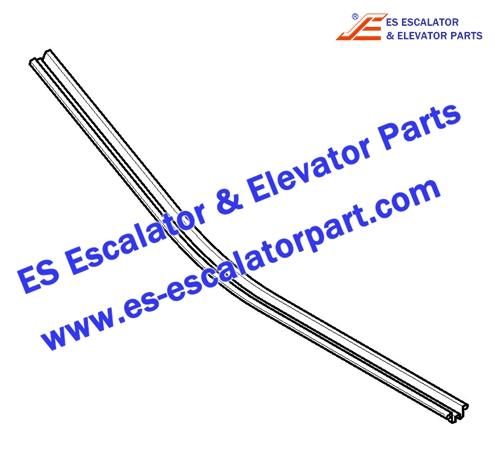 KONE Escalator KM5070660H05 Lower handrail guide 30 degrees