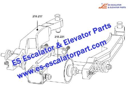 Escalator XAA20400E677 Brake Lever