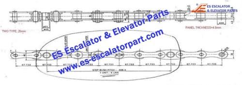 Mitsubishi Escalator Parts Step Chain pin25