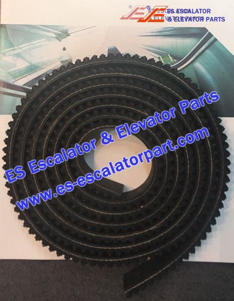KONE Escalator Parts 12B0007 Belt L=2500*8*30