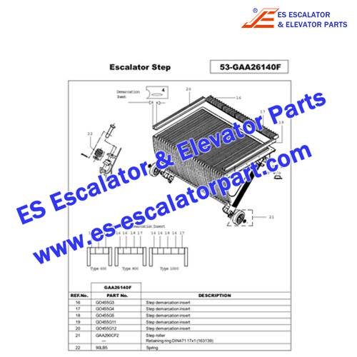 OTIS Escalator GO455G4 Step Demarcation NEW