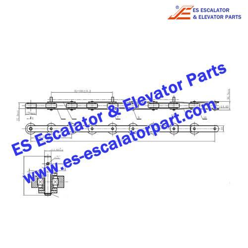 Schindler Escalator Parts TL133-180-G76 Step Chain